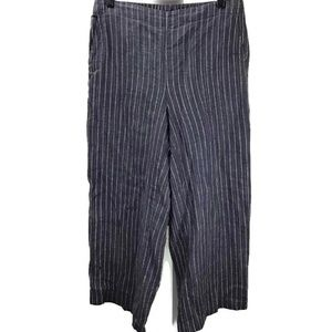Eileen Fisher Petites Striped Wide Leg Pants S/P
